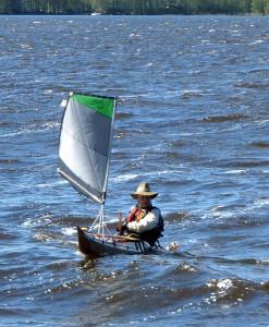 kayak sailing on Lake Vanaja 20015
