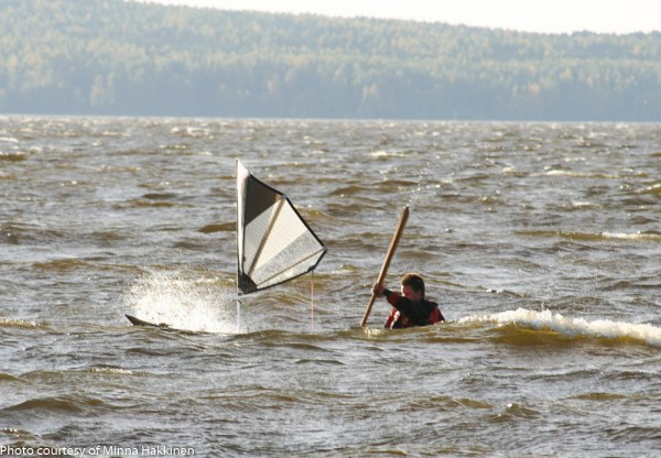 Zooming along in wind and waves, Lake Vanaja october 2nd 2015