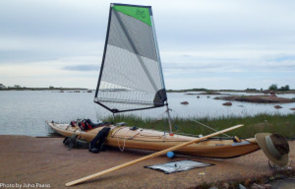 'Whisper' got her own sail just in time for the Åland trip.