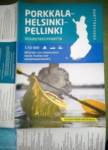Porkkala-Helsinki-Pellinki paddling map