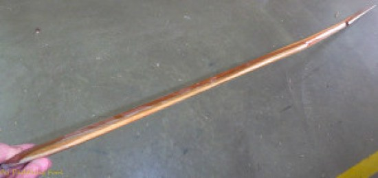 Hybrid Aleutian paddle, sideview
