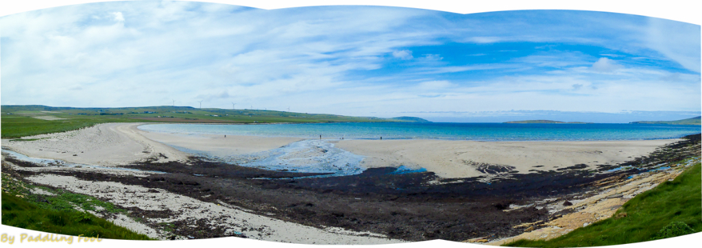 "Orkney, mainland. The Sands of Evie at lowish tide. 'Twas a nice place! ""Just like Greece!"" ;-)"