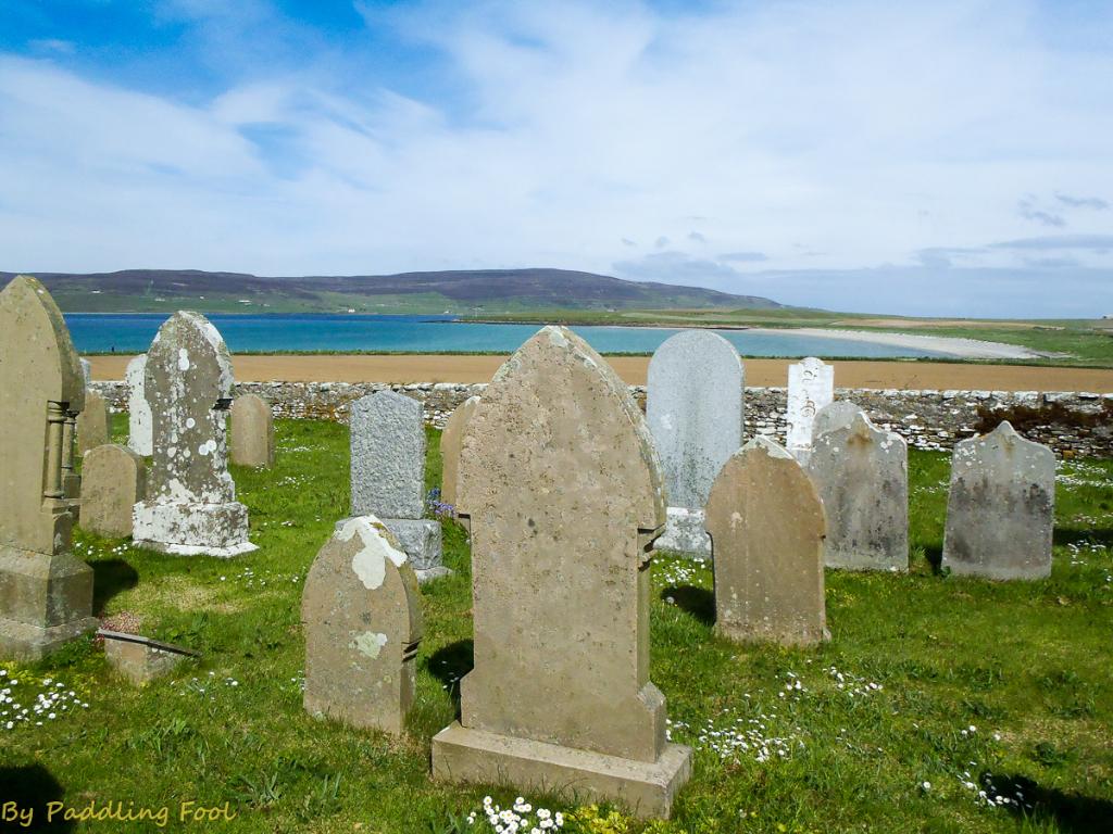A very serene location for a graveyard. Near Evie