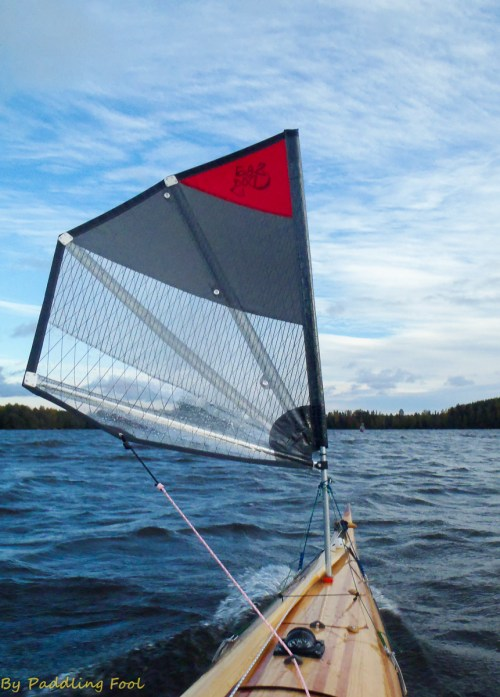 Coasting along in a light to moderate breeze. Lake Saimaa, Finland