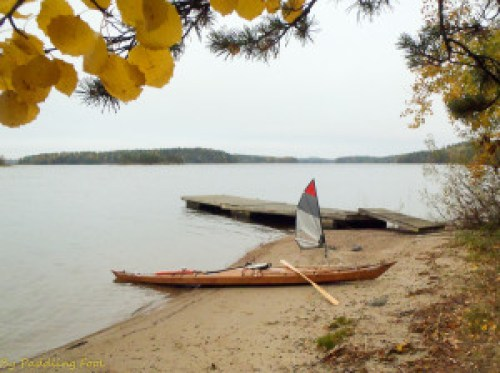 Autumn sailing in Lake Saimaa