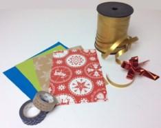 Masking-Tape, Geschenkpapier, Geschenkband