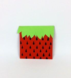 Geschenkverpackung Erdbeere