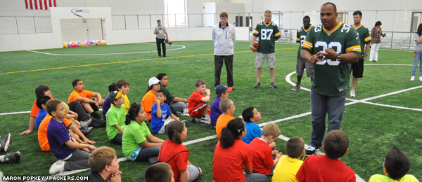 William Henderson talks to kids at the Boys & Girls Club of Kenosha