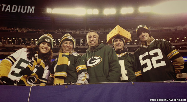 Packers fans came out to support the road team