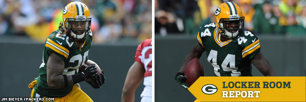 Packers RBs Alex Green and James Starks