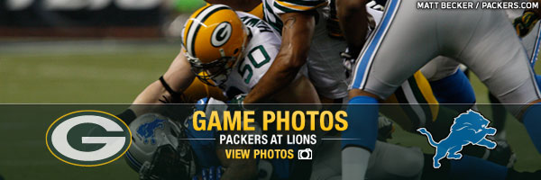 Game Photos Packers at Lions