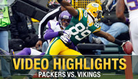 Video highlights from Sunday's Green Bay Packers vs. Minnesota Vikings game