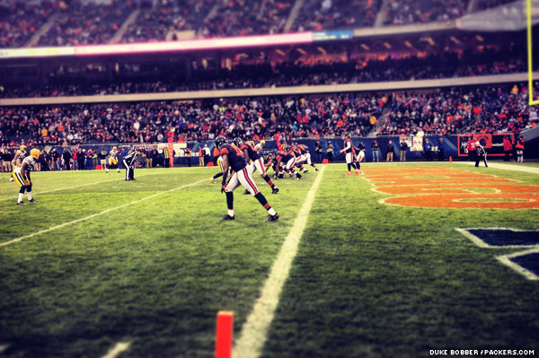 The Chicago Bears backed up deep in their own territory late in the 4th quarter