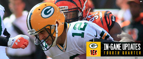 Packers QB Aaron Rodgers sacked