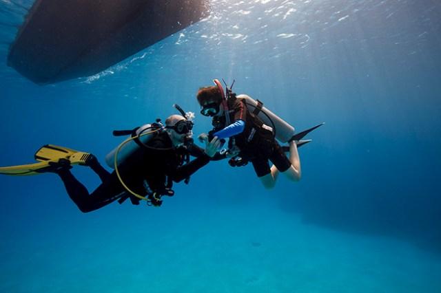 PADI training psychology in Scuba Diving