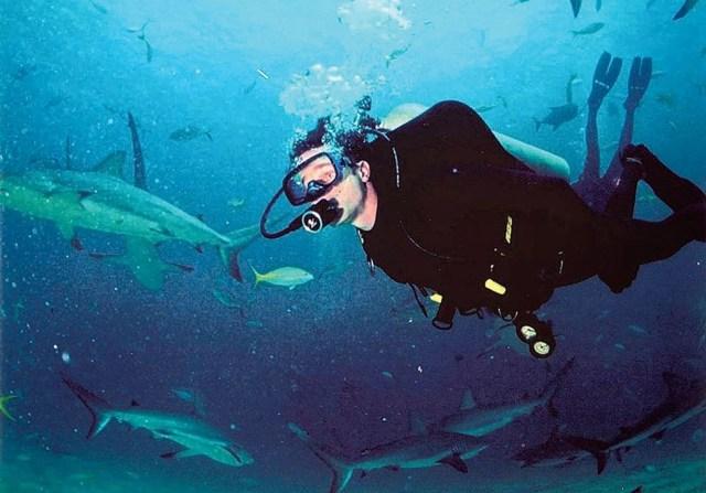 Fabien Cousteau diving