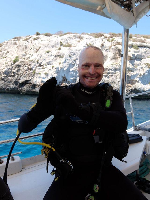Jamie Hull, plane crash survivor and PADI diver