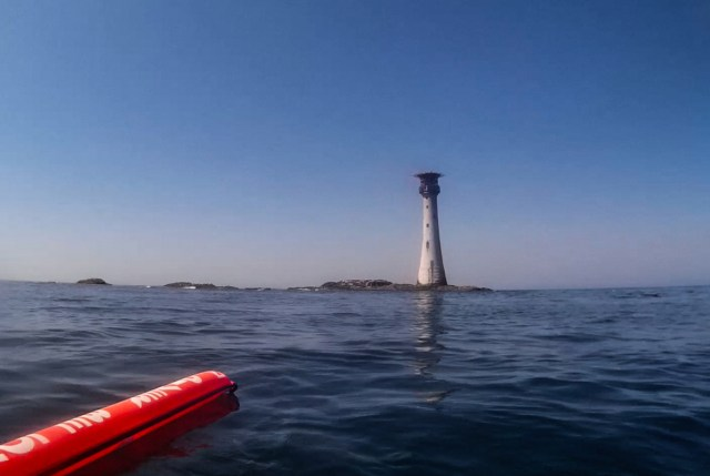 The Smalls lighthouse in West Wales, and an excellent but remote destination for diving with seals in the UK
