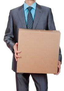 cutie din carton barbat costum
