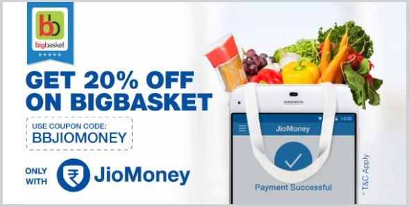 Jio offers on Bigbasket