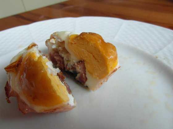Rozkrojené pečené vejce