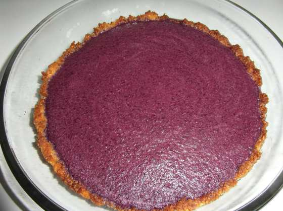Hotový koláč před vychlazením