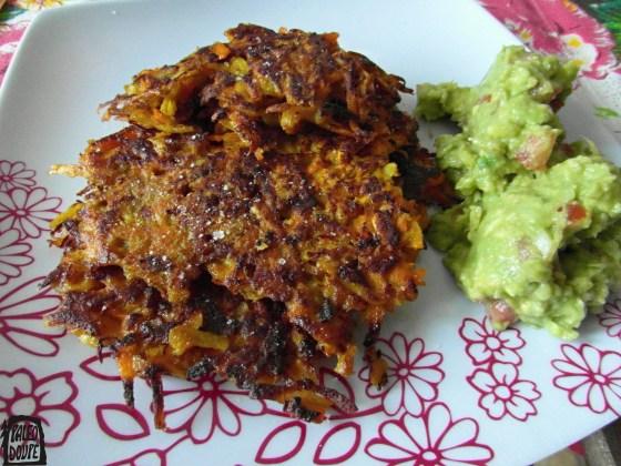 Dýňovo-babátové placky s guacamole