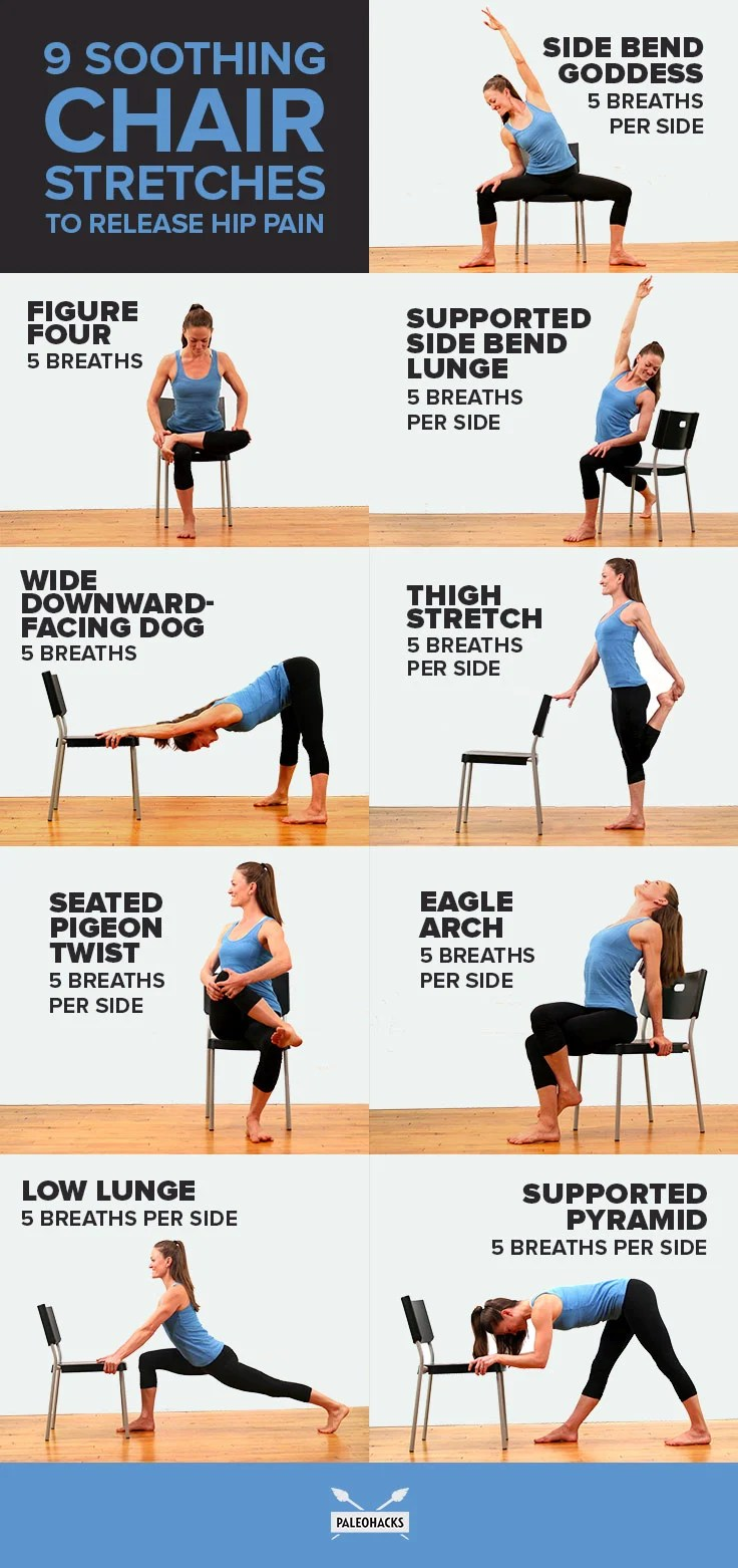 9 Soothing Chair Stretches to Release Hip Pain | Fitness