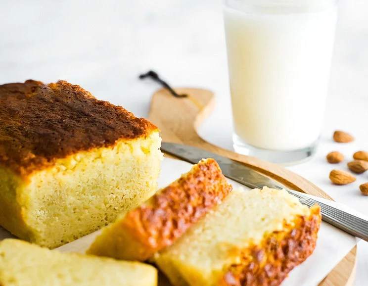 Bake this heavenly moist and tender keto pound cake, filled with the rich taste of almonds and coconut. It's dairy and gluten-free to boot!