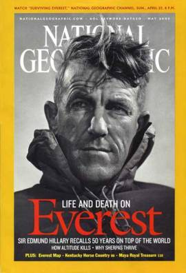 this-2003-issue-of-national-geographic-celebrated-the-50th-anniversary-of-edmund-hillarys-conquest-of-everest