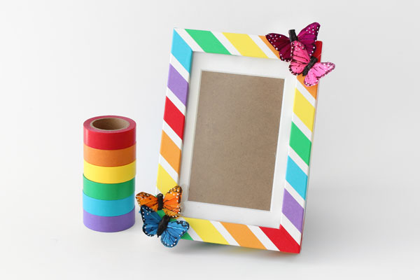 Colorful Rainbow Craft Diy Picture Frame Papermart Com