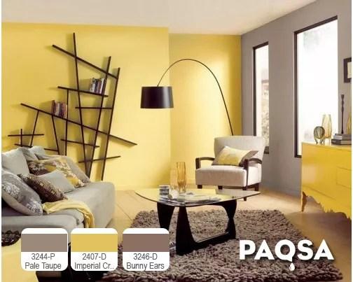 Cuatro combinaciones de colores para un diseo interior