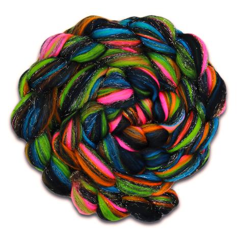 Fireworks - A Superfine 18.5 micron Merino Wool and Glitter/Angelina/Stellina Blend