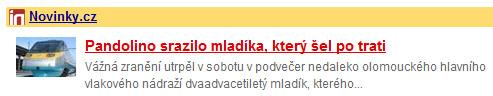 Pandolino aneb Novinky.cz se zase vyznamenaly