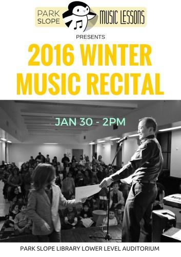 2016 Winter Music Recital