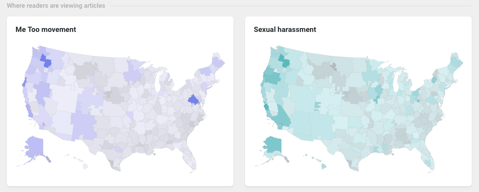 geographic attention for #MeToo