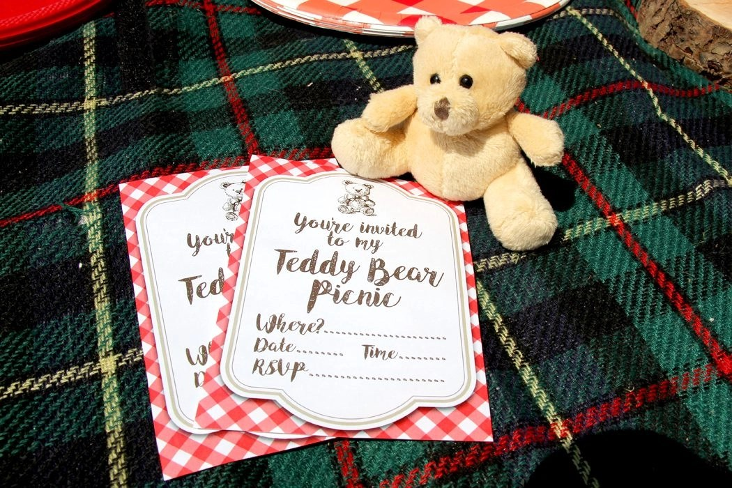 Free Printable Teddy Bear Picnic Invites | Party Delights Blog