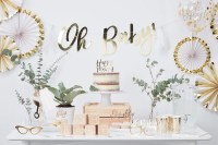 White & Gold Baby Shower Ideas | Party Delights Blog