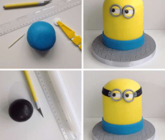 A Band Of Blue Icing Helps Your Minion Birthday Cake To Take Shape