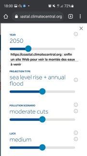 https://coastal.climatecentral.org : enfin un site Web pour voir la montée des eaux à venir