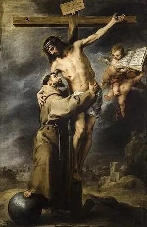 San Francisco abrazando a Cristo en la cruz, Murillo, (1668-1669).