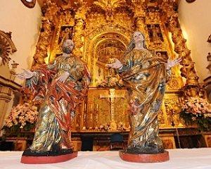 Esculturas de San Joaquín y Santa Ana
