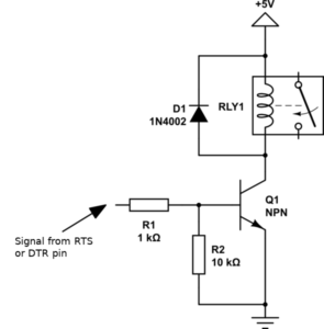 [EN] Drive a relay with an USB-to-UART interface