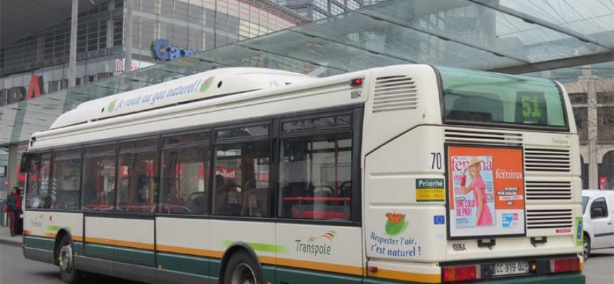 Des bus verts à Lille. ©Olivier-meyer