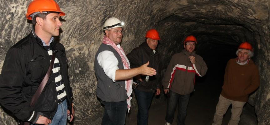 Les inspecteurs de l'Unesco découvrent la Malogne (ph.F.Patty).