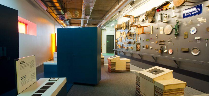 Déjà dans l'exposition Materi'oh, le mobilier avait été créé à partir de chutes de moquettes données par l'entreprise textile Louis de Poortere