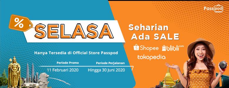 Passpod, Selasa, Promo Passpod, Promo Seharian Ada Sale