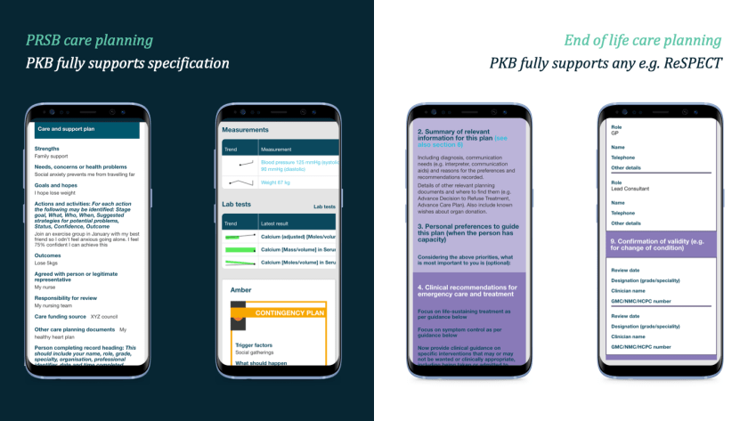 2019.11 PRSB and end of life care plans in Patients Know Best.Care plans on smartphones