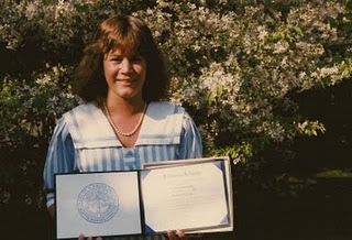 Michael Burke's Sister Linda on the Day She Graduated from Nursing School