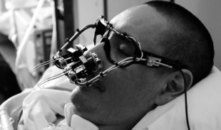 Graffiti Artist and ALS Patient TEMPT ONE Wearing the EyeWriter Device